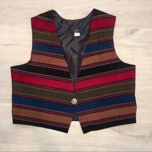 Orvis Southwestern Aztec Tapestry Vest Women's XL